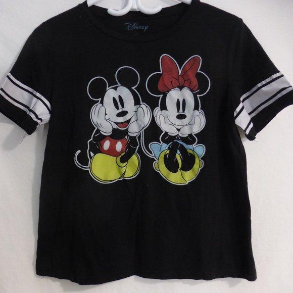 DISNEY, large, black tee, Mickey & Minnie Mouse
